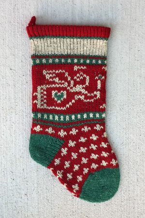 Baby Angel Christmas Stocking - Cranberry