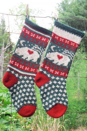 Bear Christmas Stocking.Bear Christmas Stocking Kits And Pattern