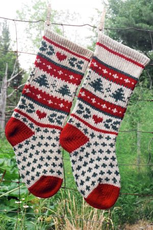 Evergreen Christmas Stocking Kits and Patterns