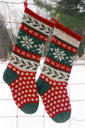 Holly Christmas Stocking Kits and Pattern