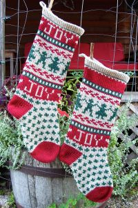Joy-to-the-World Christmas Stocking Kits and Pattern