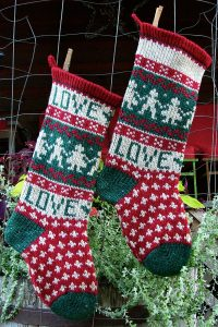 LOVE Christmas Stocking Kits and Pattern