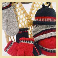 Nordic Hat Mittens Knitting Pattern