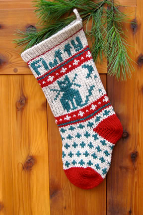 Cat Christmas Stocking Kits and Patterns