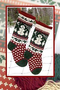 Scandinavian Christmas Stocking Yarn Packs for Knitting
