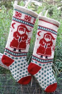 Santa Christmas Stocking Kits and Pattern
