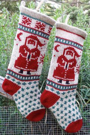 Santa Christmas Stocking Kits and Pattern