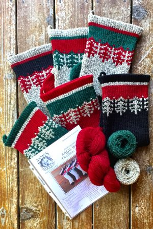 Old Fashioned Ragg Wool Christmas Stocking Kits and Pattern