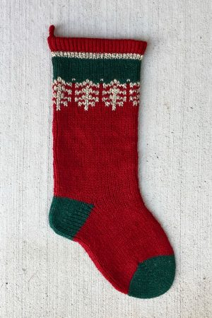 Red Ragg Wool Christmas Stocking Kits and Pattern