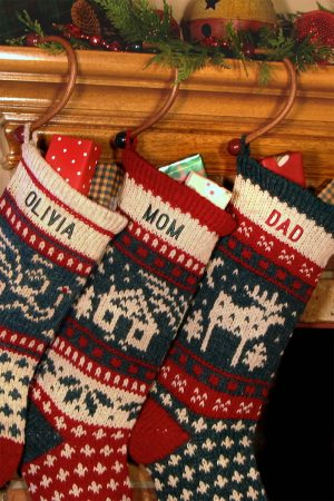Wood Christmas Stocking Hangers Sock Hooks