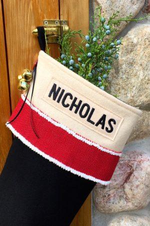 "Personalized ""Nicholas"" Christmas Stocking"