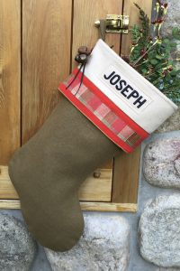 "Personalized ""Joseph"" Christmas Stocking"