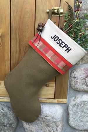 "Personalized ""Joseph"" Christmas Stocking"