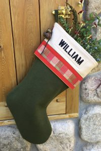 "Personalized ""William"" Christmas Stocking"