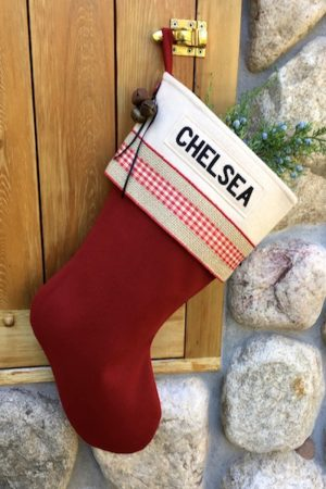 "Personalized ""Chelsea"" Christmas Stocking"