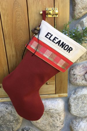 "Personalized ""Eleanor"" Christmas Stocking"