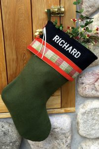 "Personalized Lodge-Style ""Richard"" Christmas Stocking"