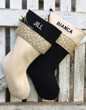 Personalized Glitz Christmas Stockings