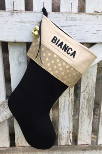 "Personalized ""Bianca"" Christmas Stocking"