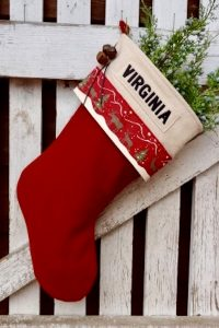 "Personalzied ""Virgina"" Christmas Stocking"